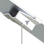 Track Clip mit Bohrung 5,1mm seitlich, weiß