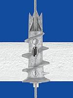 Spezial-Dübel aus Zinkdruckguß mit Innengewinde M6i für Gipskarton-Platte