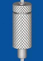 Drahtseilhalter Typ 30V  M8 m.R., mit Verriegelungsmutter