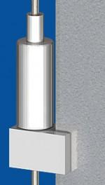 Stangen - Halter Typ 30 Side 105rke, für Stahlstangen ø 3,0mm.  Deutsches Gebrauchsmuster  20 2005 002 707.3