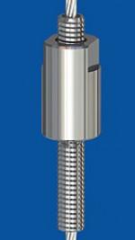 Edelstahl-Drahtseilhalter Typ 30 V  M 8 - SW 12 mm