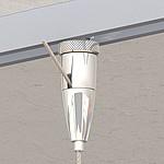 Schienenbefestiger Typ 15 ZW Ellipse, vernickelt Für Seil ø 1,0mm - 1,5mm