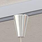 Flex-Schienenbefestiger Kegel, vernickelt Für Seil ø 1,0mm - 2,5mm