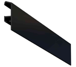 Art track aluminium, black