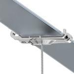 Track Clip Pro, Bohrung Ø 4,3 mm, weiß (RAL 9016) T24
