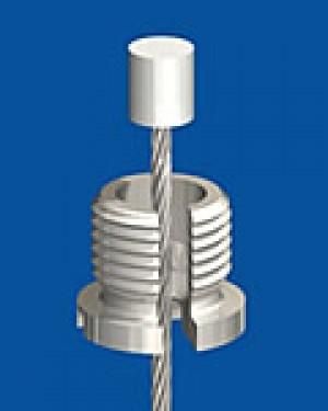 Niro Schraubkappe M10x1 ›Quick‹ mit Schlitz zum seitlichen Einhängen des Seils