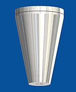 Ceiling attachment cone, with ceiling plate M6i