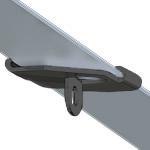 Track Clip, Lasche ø 5,6mm, schwarz (RAL 9005) T24