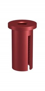 Ceiling Attachment M10x1 M6i with Slit, Aluminium red anodised