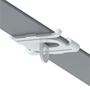 Track Clip Pro, Lasche Ø 5,8 mm, weiß (RAL 9016) T24