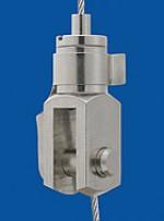 Drahtseilhalter Typ 12 M8x1 A9 m. Koppelteil Gabel 5x10
