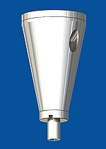 Ceiling attachment  type 15 ZW cone, with  ceiling plate M6i