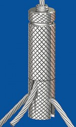 Y-Holder type 25 ZW M6i, knurled, with slit 3,0mm and set screw M6x8