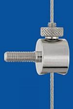 Drahtseilhalter Typ 15 V  M5x15 Q, mit Verriegelungsmutter