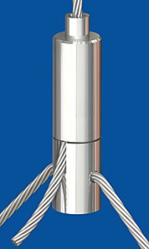 Y-Holder type 25 ZW M6i, Q 3,0 mm with set screw M6x8 Für Y-Abhängungen