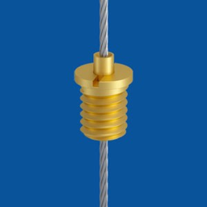 Holder type 10 M6x7 A7, brass passivated