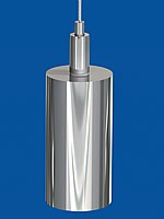 Combination of holder type 18, with flag balast, nickel plated