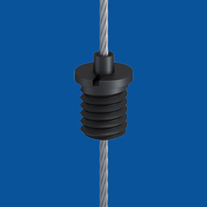 Holder type 10 M6x7 A7, black zinc plated