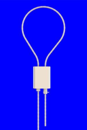 Schlaufenhalter Typ 15 K6N, flach, vernickelt