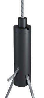 Y-Holder Type 18 ZW M6i with Slit 2.5 mm and Set Screw, Aluminium black anodised