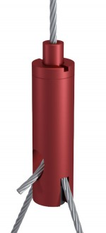 Y-Holder Type 18 ZW M6i with Slit 2.5 mm and Set Screw, Aluminium red anodised