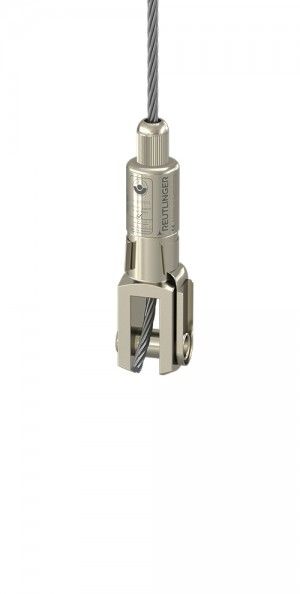 Holder type 50 SV III with fork 14x28 and safety bolt, nickel-plated