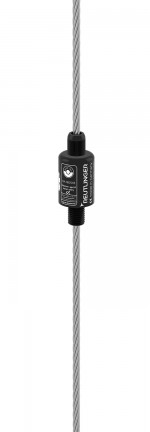 Holder Type 66 SV III, M16, black zinced, with safety nut