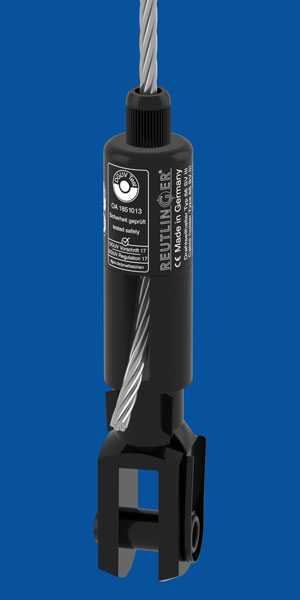 Holder Type 66 SV III ZW, with Fork 16x32, black zinced, with safety nut