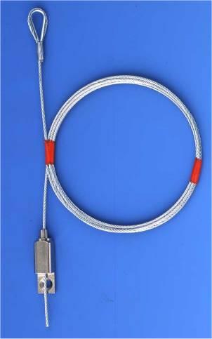 Set   Typ 18 Bo4, Drahtseil ø=1,5mm, Lg. 1500 mm, Arbeitslast: 25kg